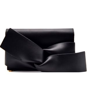 Black Bow Accent Clutch